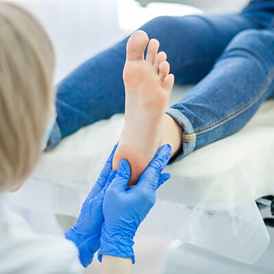 Heel care at Gentle Foot Care