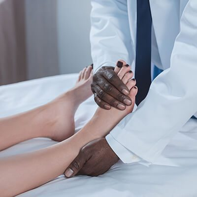 Top of foot care at Gentle Foot Care